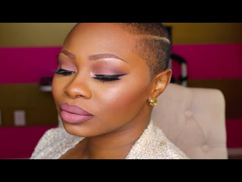 EVERYDAY GLAM MAKEUP FOR SHORT HAIR CUT.