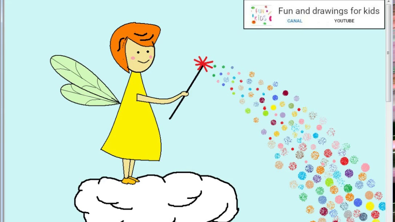 How to draw a nice Fairy Godmother for children with Nursery rhymes ...