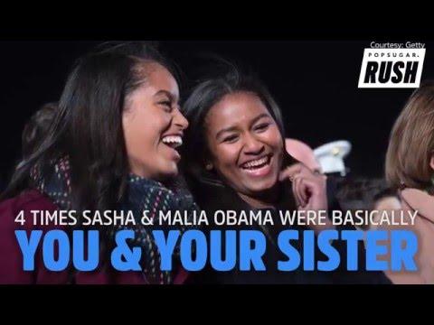 4 Times Sasha & Malia Obama Were Basically You & Your Sister