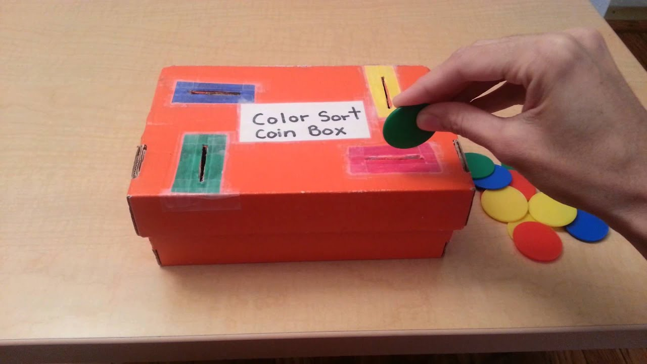 DIY Color Coin Box Montessori Inspired for Toddlers