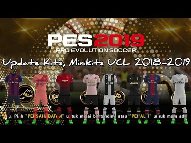 Jogress V4.1.2 Gold Edition Update Kits, Minikits UEFA Champions Ligue 2018-2019 Dll   GoblinTV