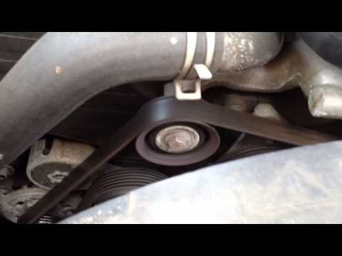 how to change 1999 rodeo idler pulley