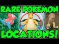 RARE POKEMON LOCATIONS In Pokemon Let's Go! Pokemon Let's Go Pikachu Rare Pokemon Guide