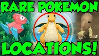 RARE POKEMON LOCATIONS In Pokemon Let's Go! Pokemon Let's Go Pikachu Rare Pokemon Guide