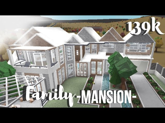 Roblox Bloxburg Family Mansion Clipzui Com