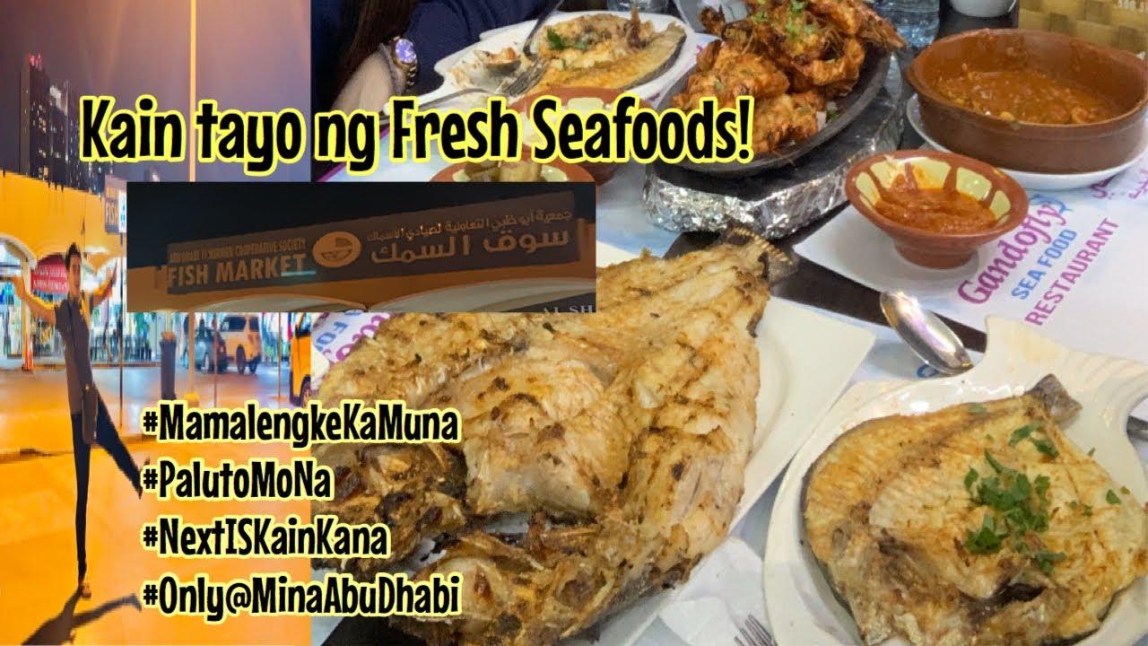 freshly cooked seafoods mukbang ala mina in abu dhabi
