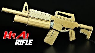 How To Make A Fully Automatic Cardboard M4A1 Rifle That SH00TS