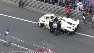Koenigsegg Agera R stopped by the police