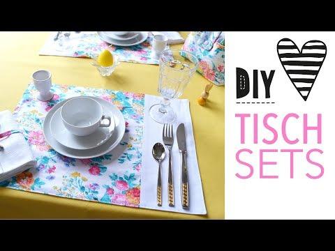 Einfache Tischsets nähen für Anfänger