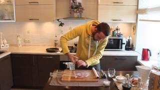 Овощной рататуй с шницелем из индейки