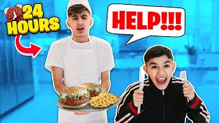 Being My Brothers Personal Assistant For 24 Hours Challenge!