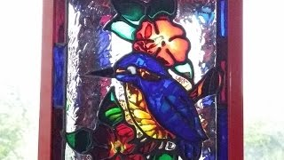 Glass Painted Lantern  (Faux Stained Glass ).