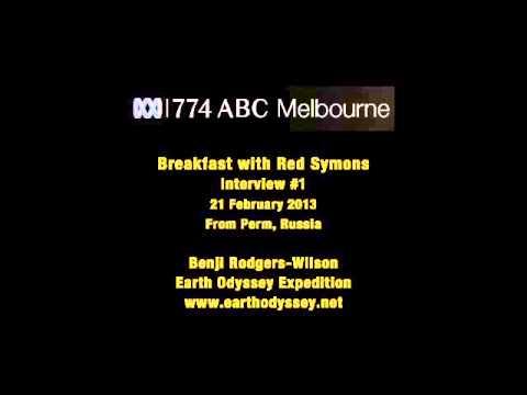 774 ABC Melbourne Radio. Red Symons, Benji Rodgers-Wilson. Interview 1