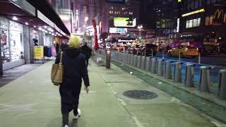 Osmo Pocket night test, Broadway and Radio City NYC