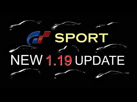 GT SPORT   NEW 1.19 UPDATE!   (New 9 Free DLC Cars)