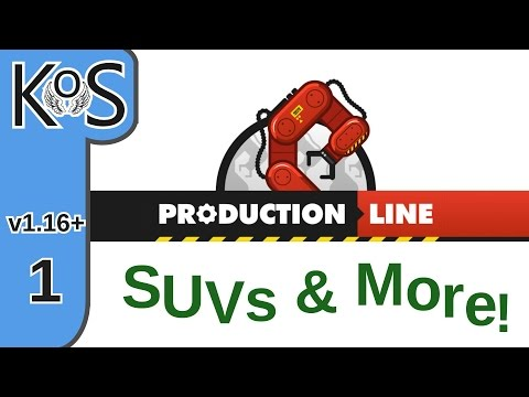Production Line - SUVs & More! Ep 1: Our First SUV!!! - Early Alpha, Let's Play Update 1.16+