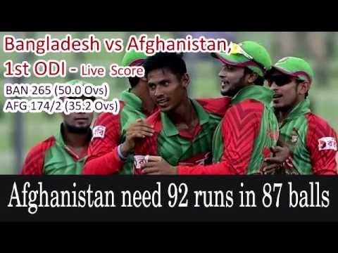 Bangladesh vs Afghanistan 1st ODI: Live Score, Live Streaming 25, 2016 12:40 - YouTube