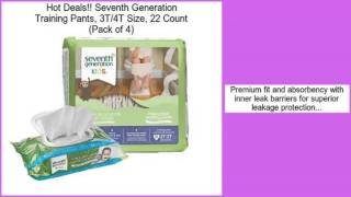 Seventh Generation Training Pants, 3T/4T Size, 22 Count (Pack of 4) Review