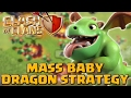 Clash of Clans   Mass Baby Dragon Strategy - TH11 War Attacks!