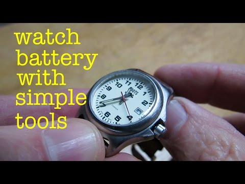 how-to-●-replace-watch-battery-●-with-simple-tools