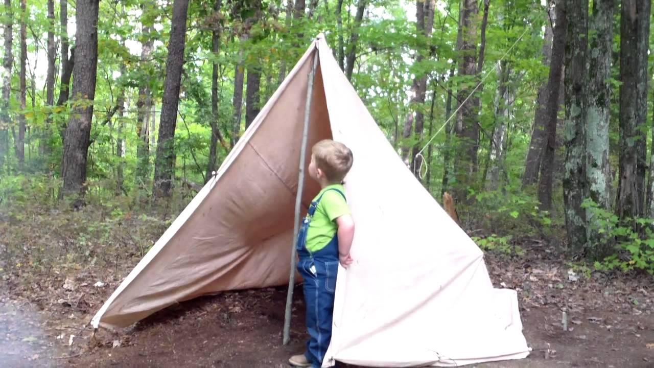 how to put up a tarp tent