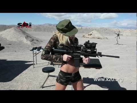 Shot Show Girls Showing Off Thermal Scopes and New Range Target System