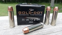 Speer Gold Dot .357 Magnum Ammo Gel Test