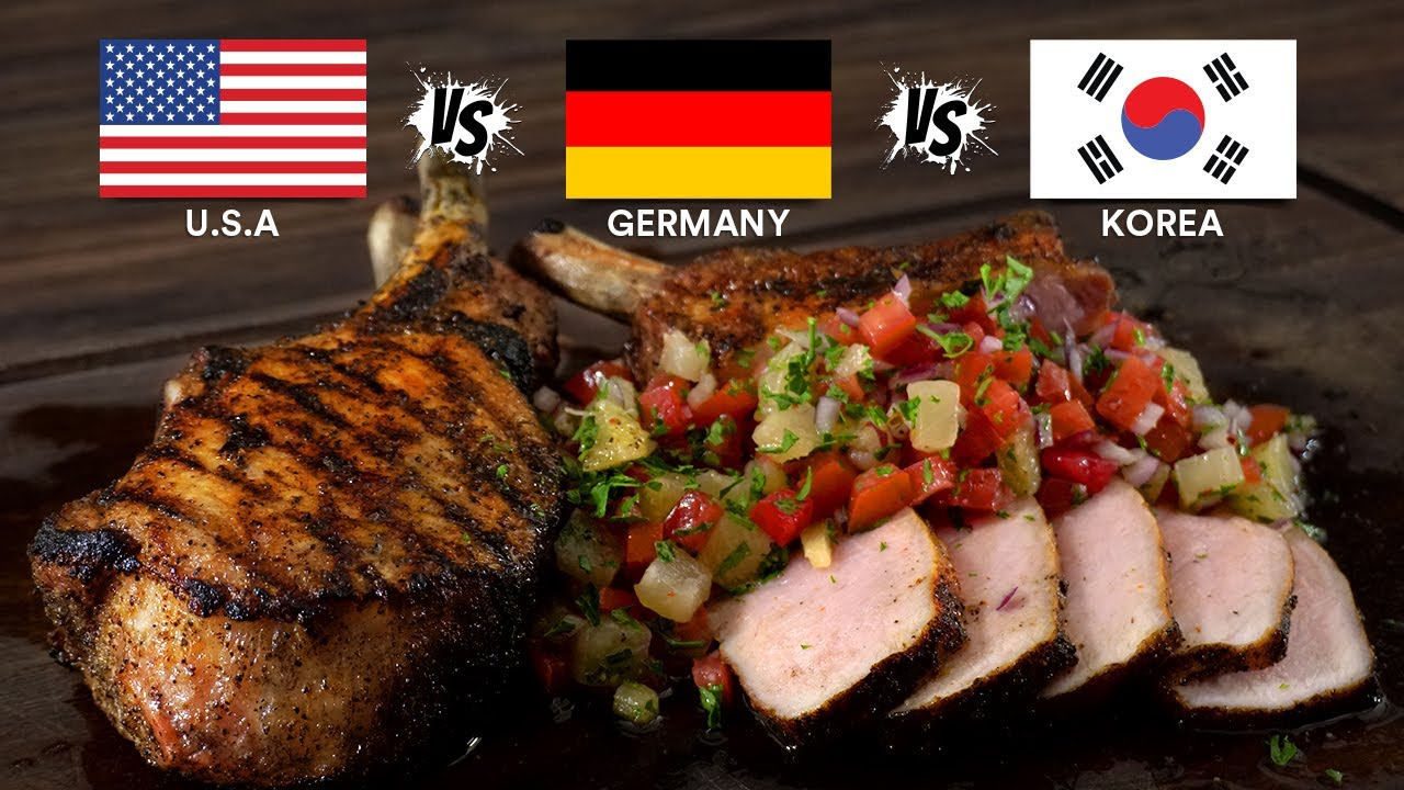Which Country makes the BEST DISH? USA vs Germany vs Korea!