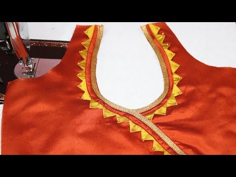 Very Easy and Simple Blouse Back Neck Design