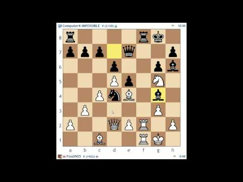 Man vs. Machine #3: 10+10 Standard vs. Computer4-IMPOSSIBLE (Dutch Defense)
