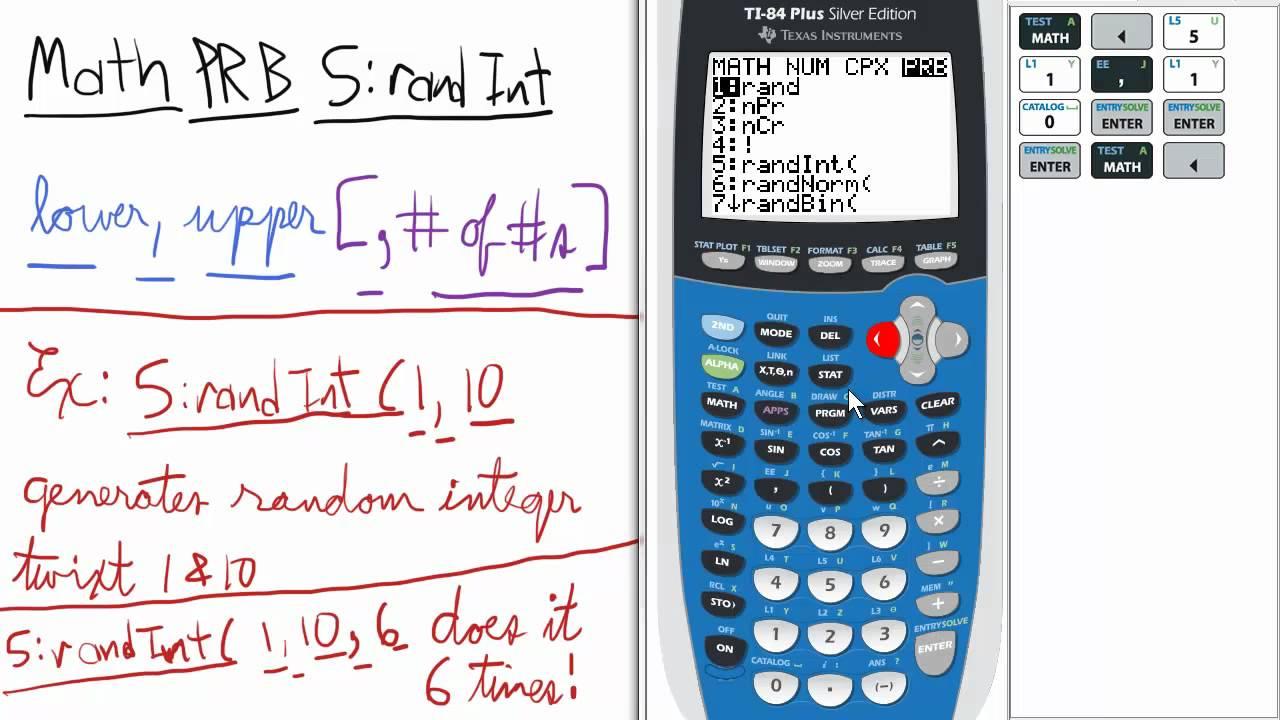 Probability Random Integer(s) TI 84 Calculator Stats - YouTube