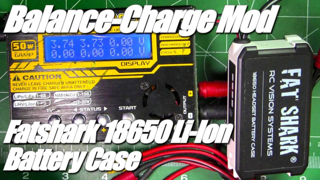 sneakers for cheap 137ac a1250 Fatshark 18650 Li-Ion Battery Case from Banggood.com: Balance-Charge Mod  (hidden wiring)