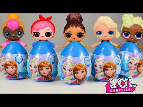 👗 Куклы ЛОЛ 👗 Сюрприз и Холодное Сердце Киндер Сюрпризы Видео для детей Игрушки LOL Surprise Frozen