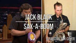 jack black playing the saxaboom