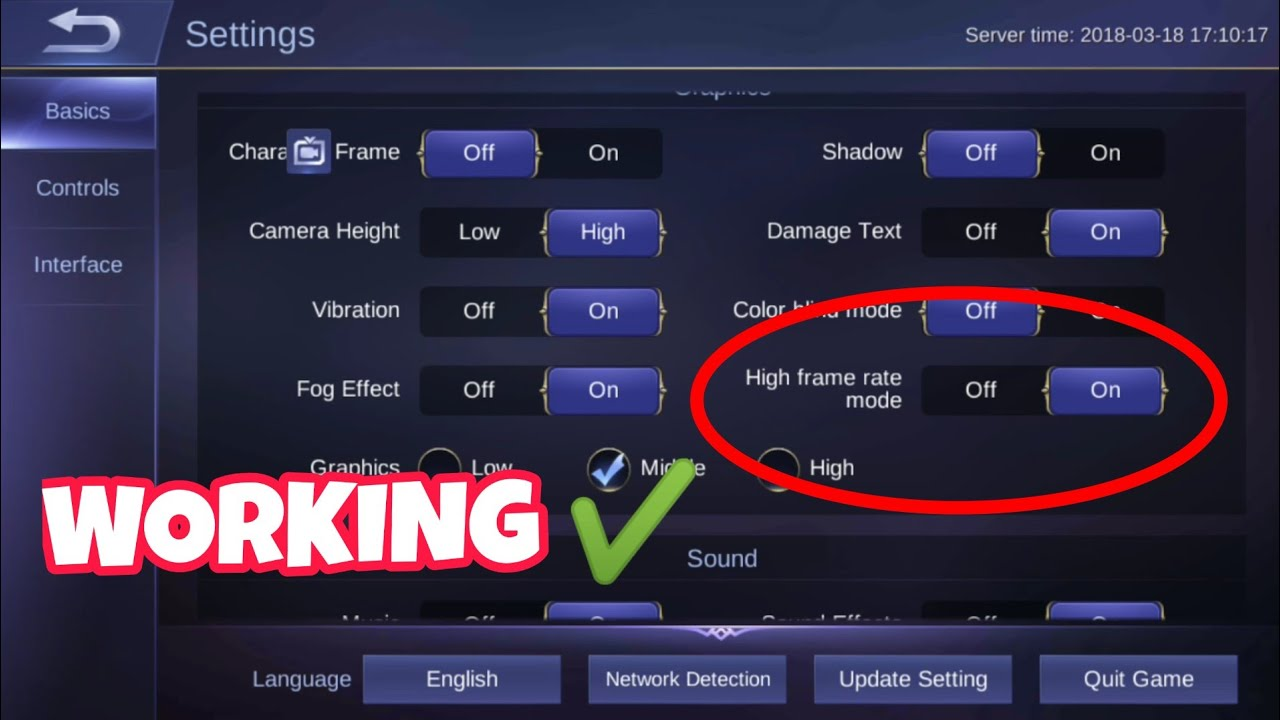 HOW TO ENABLE HIGH FRAME RATE MODE IN MOBILE LEGENDS | ANDROID/IOS ...
