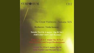 Violin Sonata No. 10 in G Major, Op. 96: IV. Poco allegretto Adagio espressivo - Tempo primo -...