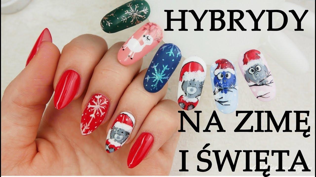 Zimowe I Swiateczne Paznokcie Hybrydowe Wzorniki Lakierowniczka
