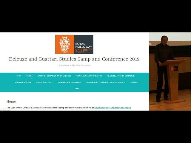 Conference Plenary Talks – Deleuze and Guattari Studies Camp