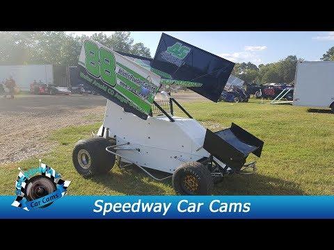 #88 AJ Parrish - Mini Sprint - 8-18-17 Boyd's Speedway - In Car Camera