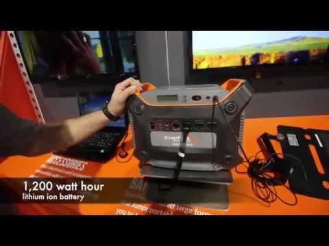 1200 watt hour electric generator that only weighs 40 lbs :CES 2015