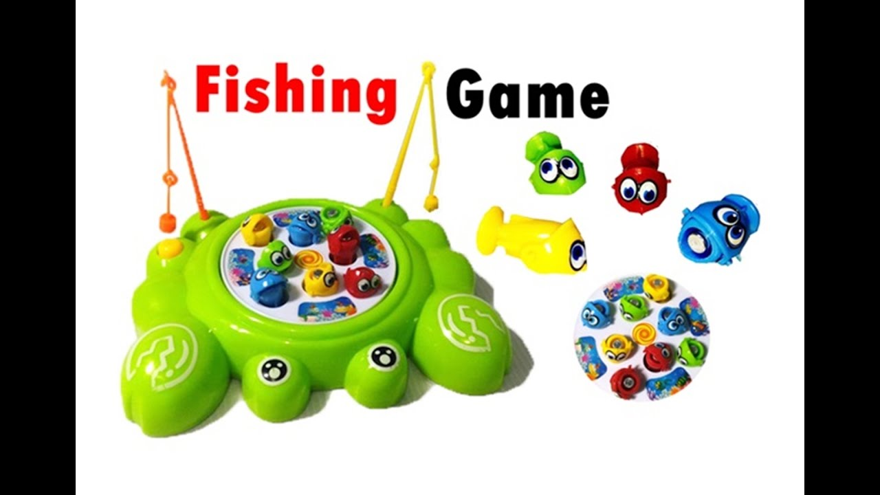 Fishing Games For Kids To Play - Magnetic electric rotating fishing game toy kids child fish rod pond funny toys