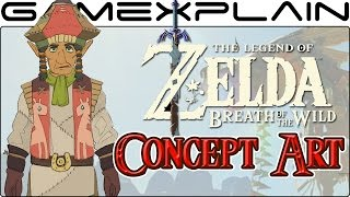 Examining the NEW Zelda: BotW Concept Art (Horse Outpost Worker?)