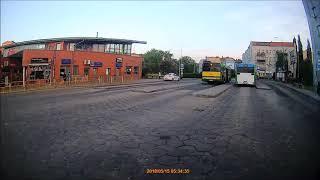 Taksówka na pętli autobusowej Szczecin