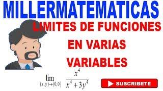 limite de una funcion en dos variables 2 Millermatematicas