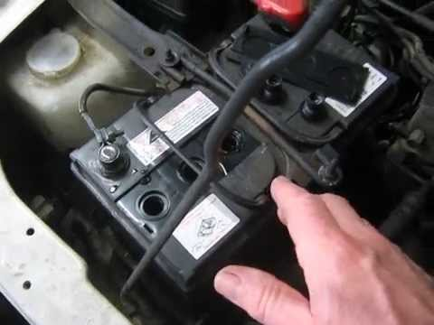 Checking Battery Fluid Level Youtube