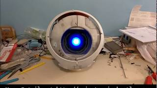Portable AND Functional! Animatronic Wheatley V2.0 Update