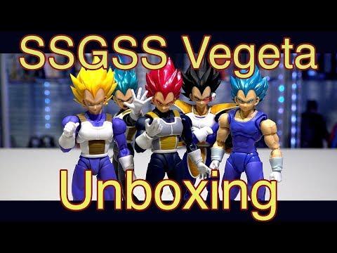 S.H. Figuarts Super Saiyan God Super Saiyan Vegeta Unboxing
