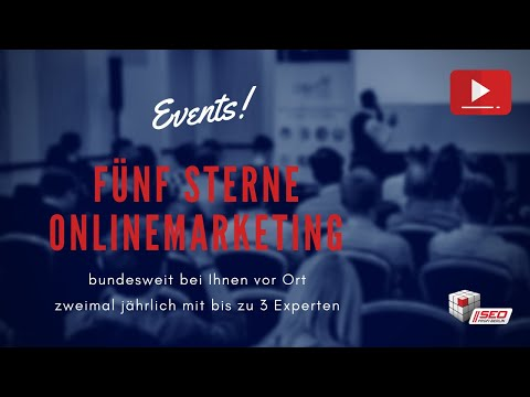 "Die ""Fünf Sterne Online-Marketing""-Events – Onlinemarketing-Workshops für KMU & Mittelstand"