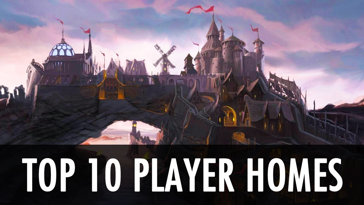 Skyrim top 10 player home mods youtube for Top ten home builders