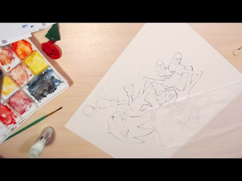 [LIVESTREAM] Watercolor Traditional Drawing